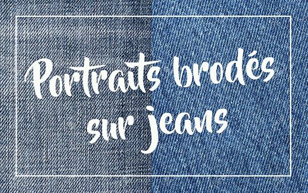 broderies sur jean