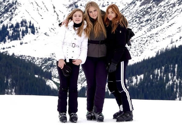 Queen Maxima, Princess Amalia, Princess Alexia and Princess Ariane, Princess Beatrix, Princess Laurentien in Lech