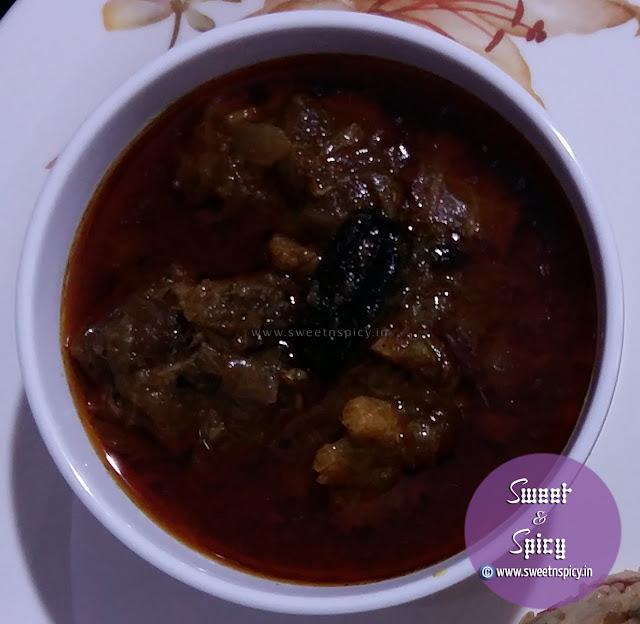 Mutton Curry or Mangsha Jhola