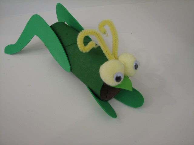 how to make a grasshopper for school project