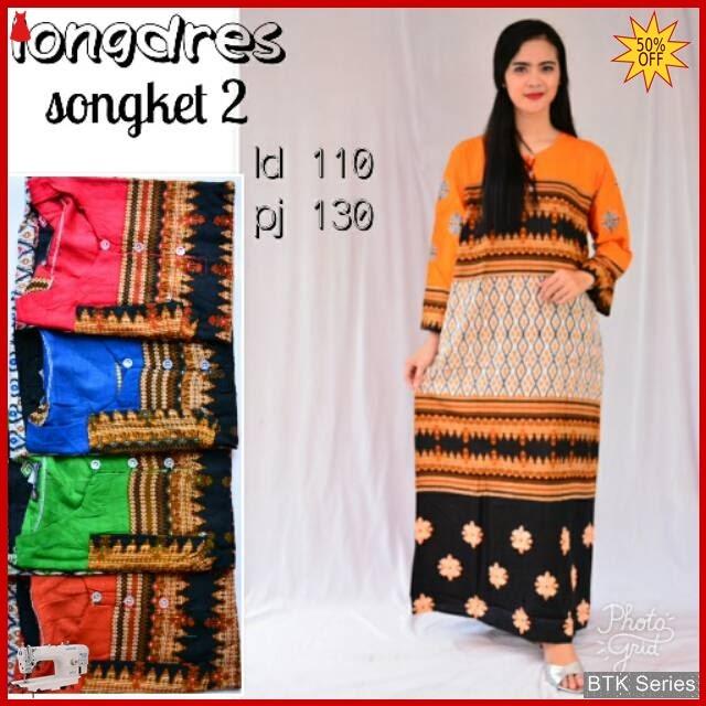 BTK098 Baju Longdress Songket Modis Murah BMGShop