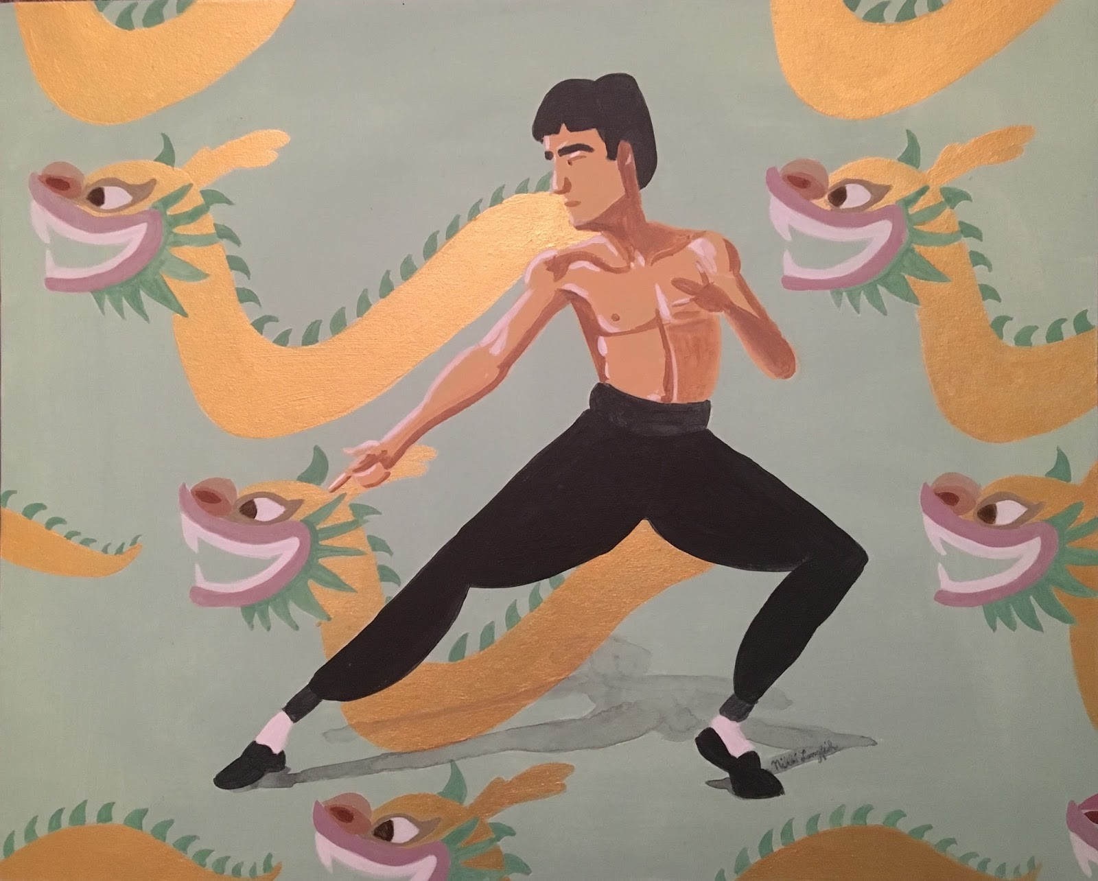 Nikki's sketches: Bruce Lee Art Show at Sketchpad Gallery