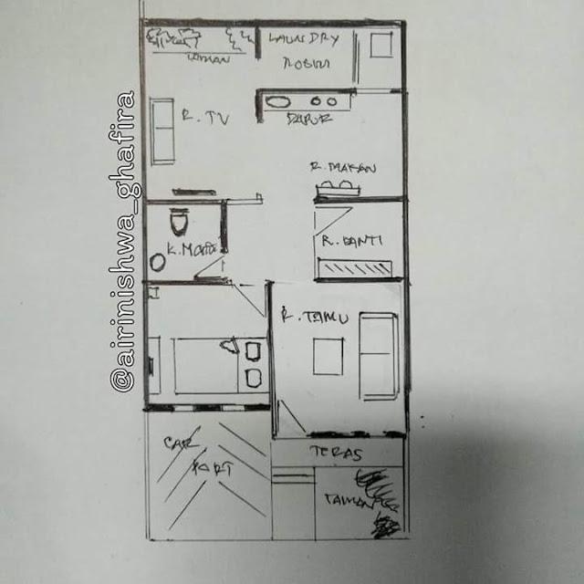 Inspirasi Rumah Minimalis Tipe 50 Gambar Denahnya