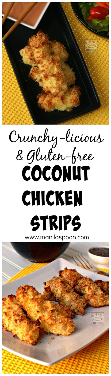 These delicious and crunchy Coconut Chicken Strips are tried and tested and easy to make. My whole family enjoys these nibbles. Can be made gluten-free, if preferred.