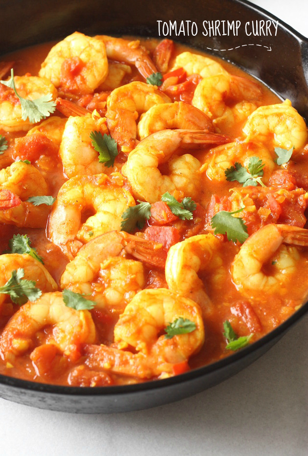 Tomato & Shrimp Curry recipe by SeasonWithSpice.com