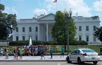 White House tourists police propaganda Trump