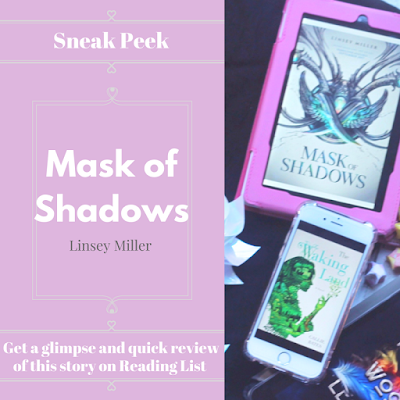 Mask of Shadows by Linsey Miller... a sneak peek on Reading List