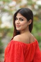 Rhea Chakraborty in Red Crop Top and Denim Shorts Spicy Pics ~  Exclusive 189.JPG
