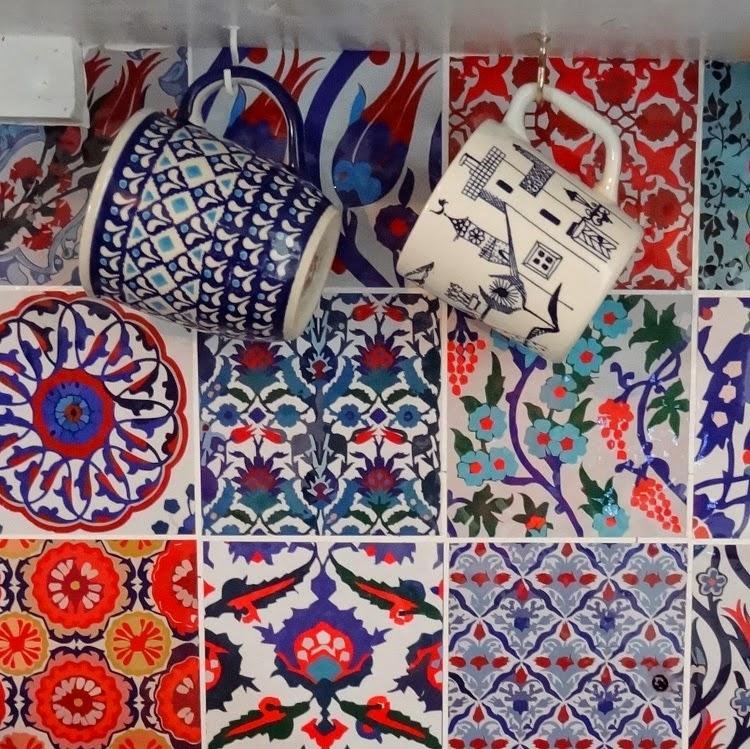 Bleucoin Tile Decal Backsplash: GYPSY YAYA: Bleucoin Tile Decal Backsplash