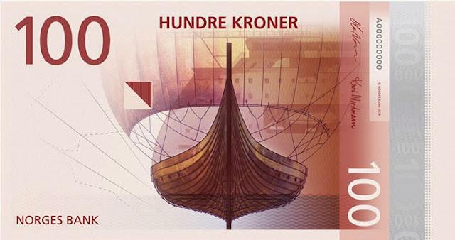 diseño de los billetes de Noruega para 2017