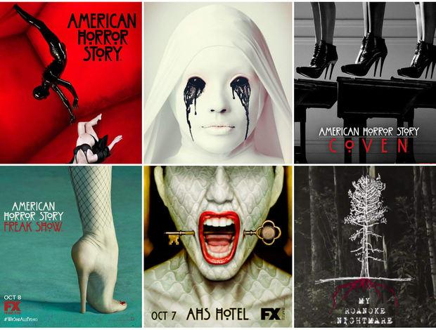 Las seis temporadas de 'American Horror Story'