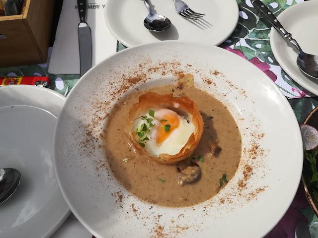 Restaurante La Bernarda - Nido de shitake