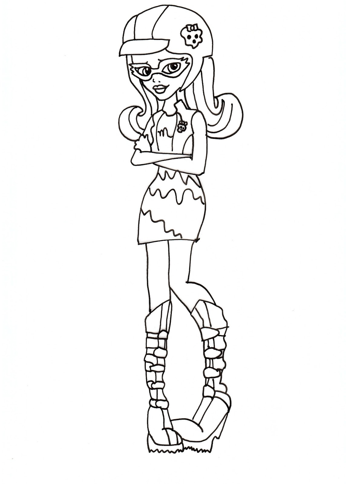 Free Printable Monster High Coloring Pages Ghoulia