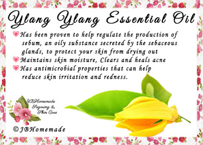 Ylang Ylang ♦Has been proven to help regulate the production of sebum, an oily substance secreted by the sebaceous glands, to protect your skin from drying out ♦Maintains skin moisture, Clears and heals acne ♦Has antimicrobial properties that can help reduce skin irritation and redness.