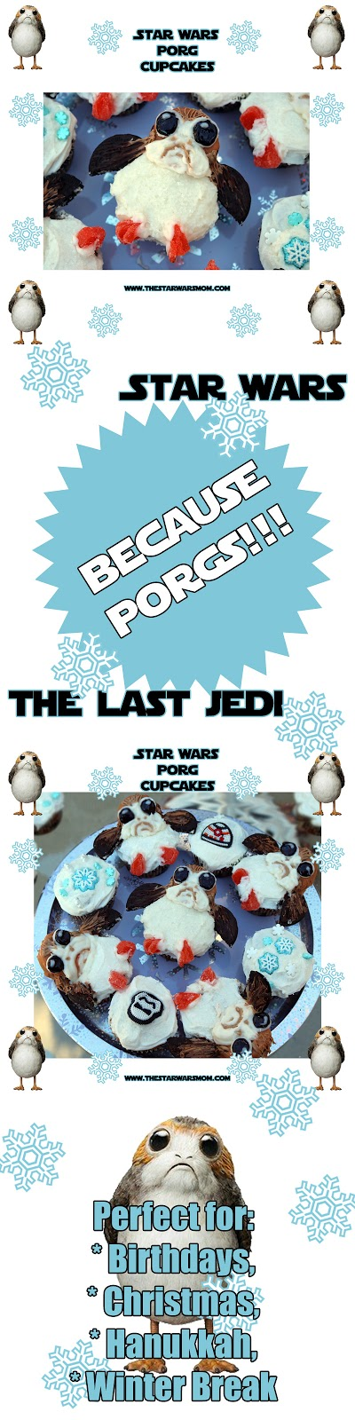 Porg Cupcakes Porgs from Star Wars The Last Jedi