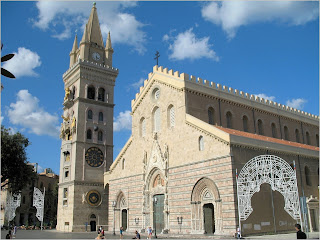 Messina's 12th century cathedral, originally built by the Normans, suffered serious damage in the 1908 earthquake