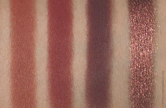 Urban Decay Naked Heat Palette Swatches Cayenne En Fuego Ashes Ember
