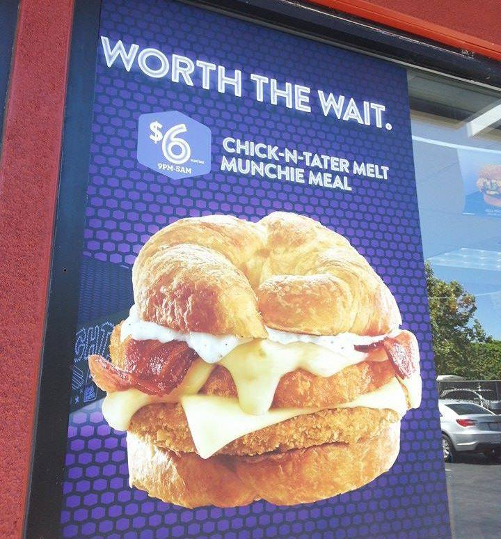 News jack in the box testing hash brown topped chicken for Jack in the box fish sandwich