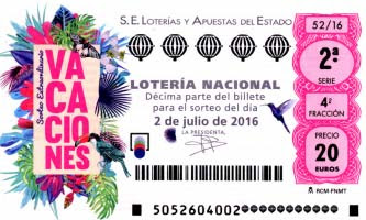 Sorteo vacaciones loteria nacional