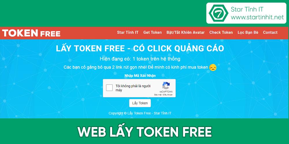 Share web lấy token miễn phí mới nhất tháng 6/2018