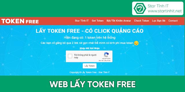 web lấy token free