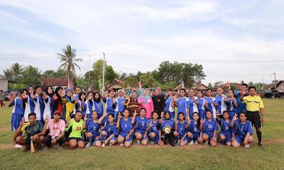 Yustin Ficardo Buka Open Turnamen Sepak Bola Wanita di Natar Lampung Selatan