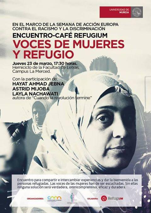 """Encuentro """"Voces de mujeres y refugio""""."""