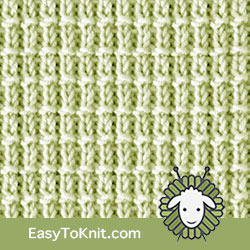Knit Purl 29: Hurdle | Easy to knit #knittingstitches #knitpurl