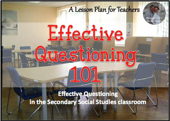 Effective questioning strategies that work in the secondary classroom