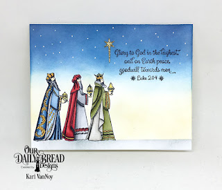 Our Daily Bread Designs Stamp Set: Christmas Card Scriptures (for the sentiment), Stamp/Die Duos: Great Joy, Custom Dies: Holy Night (for the star)