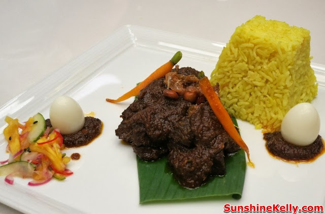 MIGF 2013, MIGF Menu, Food Beverage, Nook, Aloft KL Sentral, food review, food,  Wagyu Beef Cheek Rendang with Farm Vegetables Achar Jelatah, Tumeric Coconut Rice