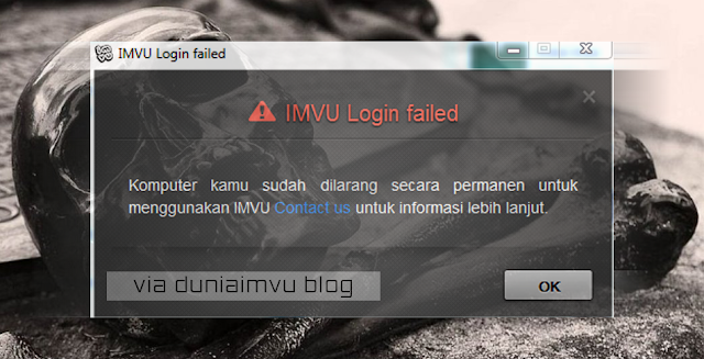 Cara Mengatasi Banned Permanent IMVU, 100% Work! - Dunia Imvu