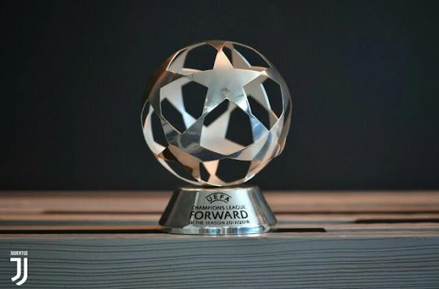 Cristiano Ronaldo Awarded UEFA Forward Of The Season