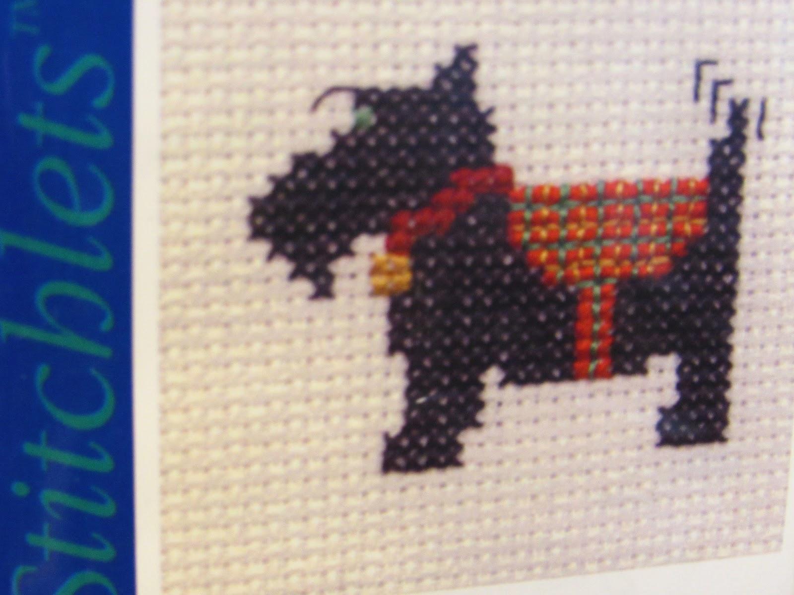 Hobbycraft Mini Cross Stitch Kits Scottie Dog