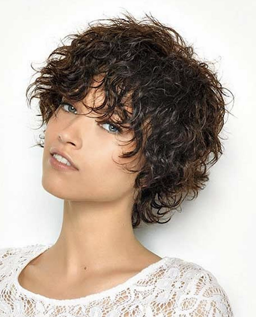 Trendy curly short hair picture 2019