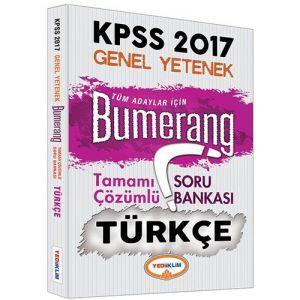 Yediiklim KPSS Türkçe Bumerang Tamamı Çözümlü Soru Bankası 2017