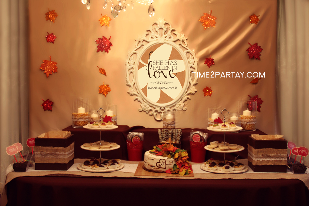 A Fall Themed Bridal Shower | Time2Partay.com