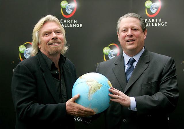 Milionário Richard Branson oferece U$ 25 milhões contra o aquecimento global. A nova religião tem Papas, santos, profetas e financistas.