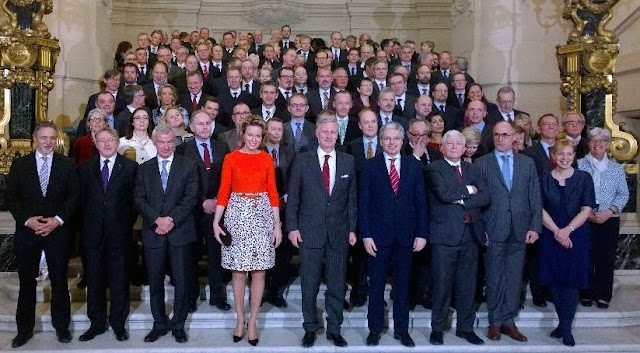King Philippe of Belgium and Queen Mathilde of Belgium received heads of Belgian diplomatic missions