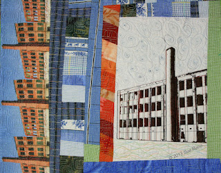 Silk Mill #3, detail 2,  by Sue Reno