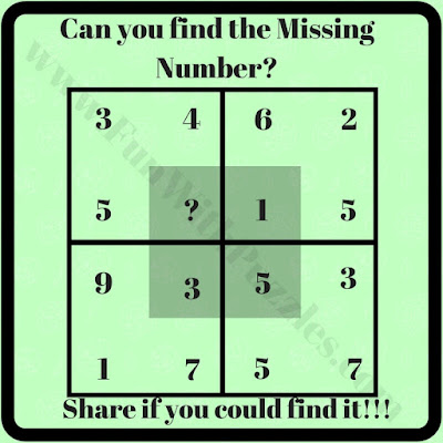 Quick easy Puzzle question for kids to find the missing number