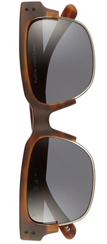 RAEN 'Underwood' 53mm Polarized Sunglasses Matte rootbeer