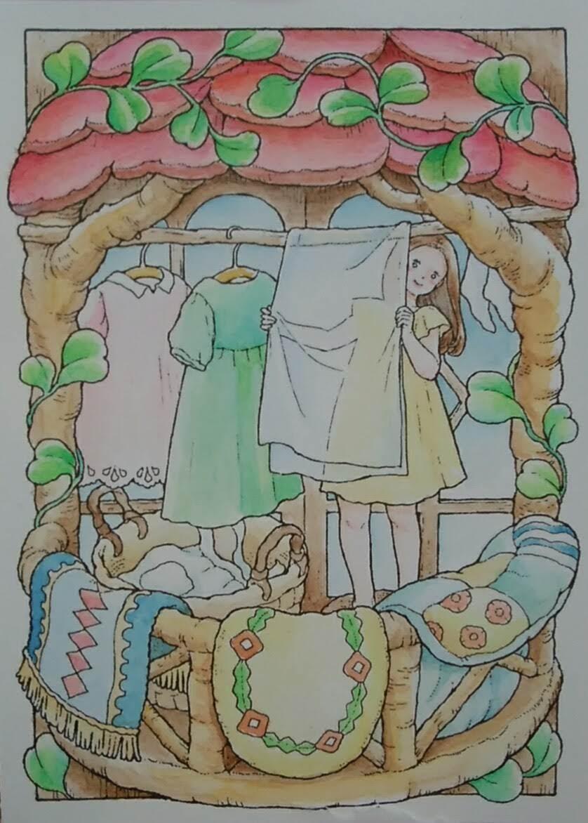 夏休みに塗った塗り絵 井田千秋編塗り絵ブログ