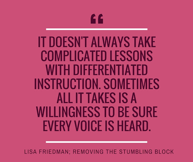 Let Every Voice be Heard; Removing the Stumbling Block