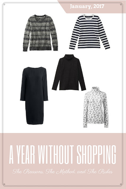 My Year Without Shopping - January 2017. The Reasons, The Method, and The Rules