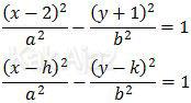 Membandingkan persamaan hiperbola dengan persamaan bakunya