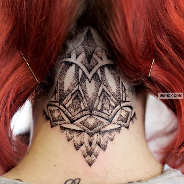Gambar Tattoo 3D Full Di Leher Asli Foto Keren Dari Desainer Rajah Tato