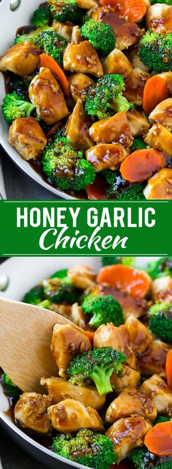 HONEY GARLIC CHICKEN STIR FRY #honey #garlic #chicken #chickenrecipes #stir #fry #dinner #dinnerrecipes