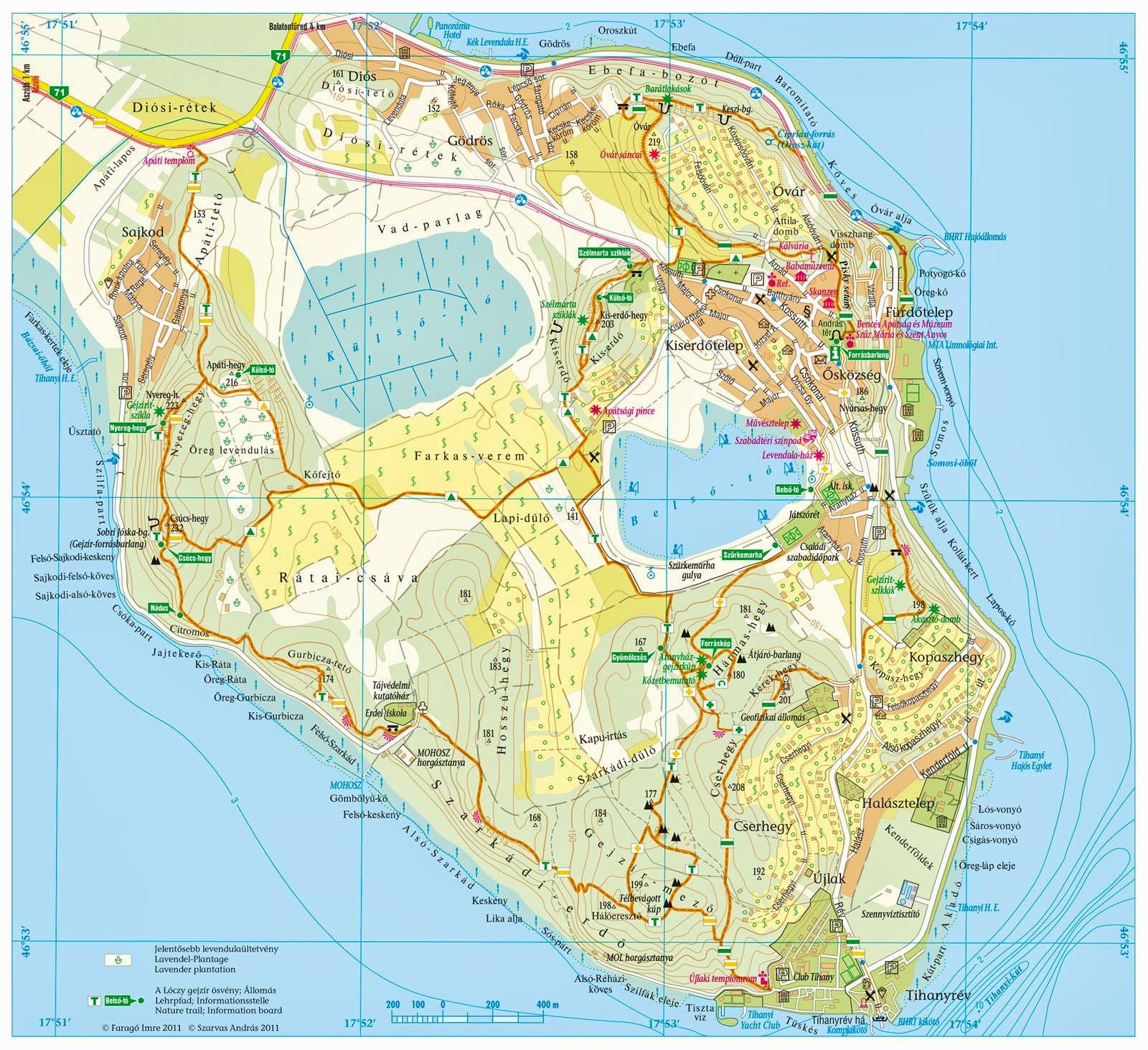 tihany látnivalók térkép Csatangoló: Kirándulás a Tihanyi félszigeten   2012. nyaralás I  tihany látnivalók térkép