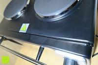 beschädigt: Andrew James – 23 Liter Mini Ofen und Grill mit 2 Kochplatten in Schwarz – 2900 Watt – 2 Jahre Garantie